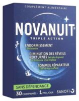 Novanuit Triple Action Comprimés B/30 à PINS-JUSTARET
