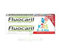 Fluocaril Kids Gel Dentifrice Fraise 0/6ans 2*50ml à PINS-JUSTARET