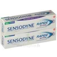 Sensodyne Rapide Pâte Dentifrice Dents Sensibles 2*75ml à PINS-JUSTARET