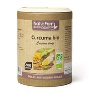 Nat&form Eco Responsable Curcuma Madras Bio Gélules B/200 à PINS-JUSTARET