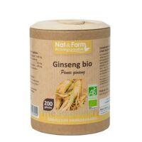 Nat&form Eco Responsable Ginseng Rouge Bio Gélules B/200 à PINS-JUSTARET