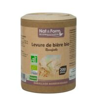 Nat&form Eco Responsable Levure De Bière Bio Gélules B/200 à PINS-JUSTARET